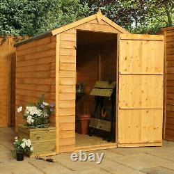 Wooden Garden Shed 6x4 Outdoor Storage Building Windowless Apex Roof 6ft 4ft
