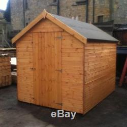 Wooden Garden Shed Apex Factory Seconds Fully T&G 12mm New Hut No Windows