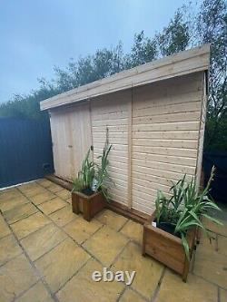 Wooden Garden Shed Pent Roof Shiplap Tongue And Groove Heavy Duty Floor & Roof