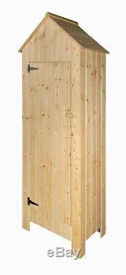 Wooden Garden Tool Shed Beach Hut Sentry Box Storage Cupboard
