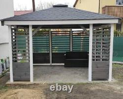 Wooden Gazebo, Garden Shed, Arbor, Pergola, Canopy 3m x 3m FREE DELIVERY
