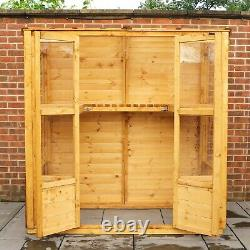 Wooden Greenhouse 6x3 Outdoor Garden Victorian Style Potting Shed 6ft 3ft