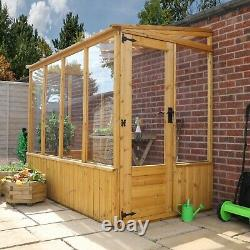 Wooden Lean-To Pent Greenhouse 8x4 Outdoor Garden Storage Potting Shed 8ft 4ft
