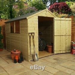 Wooden Shed 8x6 Outdoor Garden Storage Workshop Shiplap Apex Roof B Grade