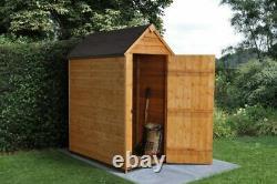 Wooden Storage Shed Overlap Apex Felt Roof Garden Storage 3ft x 5ft No Windows