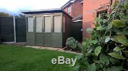 Wooden Summer House 10x5 Fully T&G Outdoor Garden Room Pent Shed Summerhouse Hut