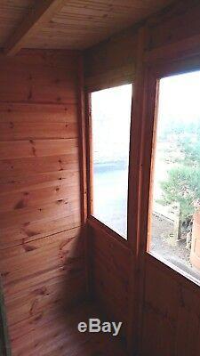 Wooden Summer House 8x8 Fully T&G Outdoor Garden Room Pent Shed Summerhouse Hut