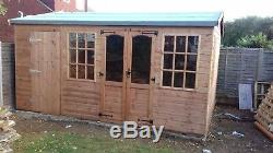 Wooden Summer House Man Cave 20X10ft Garden Room Shed free fitting on day only