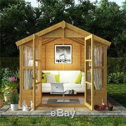 wooden summerhouse garden sheds room storage patio wood workshop custom shed new