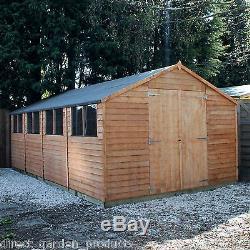 Wooden Workshop Shed Garden Sheds 20ft X 10ft Work Shop New 20x10 Building  Wood