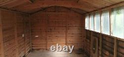 Wooden garden shed 12 x 8 double doors