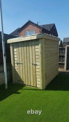 Wooden garden shed 6x4 Pressure Treated Steel Roof