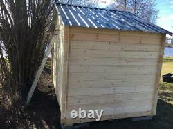 Wooden garden shed (log cabin style) with an apex roof 10x6.5ft