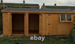 Wooden garden summer house sheds tanalised