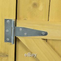 Woodside Wooden Garden Storage Cupboard Outdoor Tool Store Shed