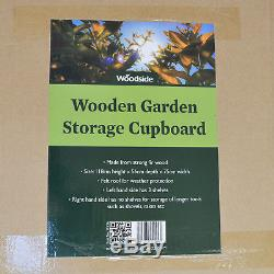 Woodside Wooden Garden Storage Cupboard Outdoor Tool Store Shed