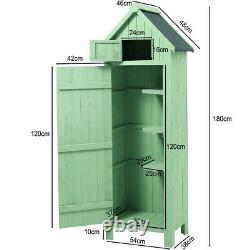 XL Wooden Outdoor Storage Garden Shed House Beach Hut Style Tool Room Sentry Box