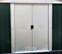 Yardmaster the NO. 1 Emerald Deluxe Apex Metal Garden Shed Size 6'8x 7'1